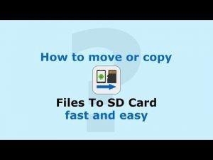 How to Move Files from Tablet to SD card