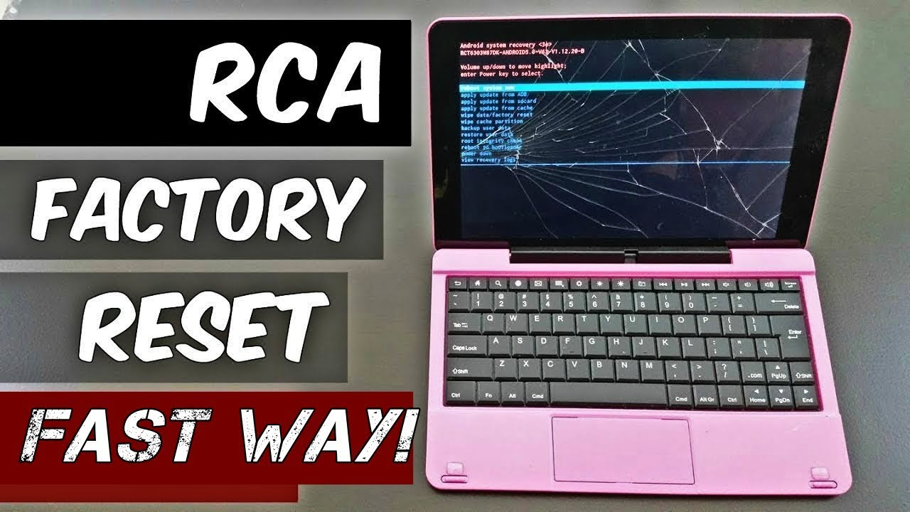 how to reset an RCA tablet fast