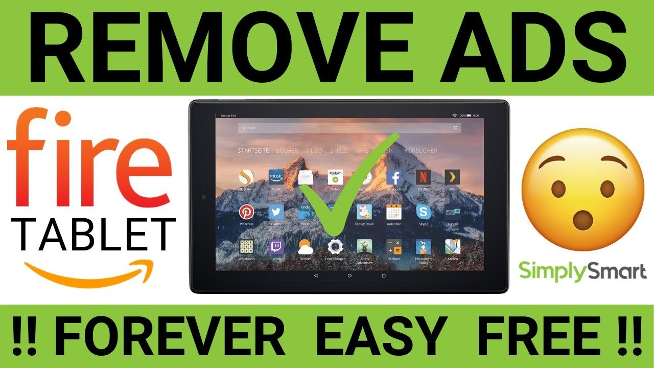 how to remove ads from Fire Tablets