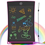 GUYUCOM 8.5-Inch LCD Writing Tablet Colorful Screen Doodle Board Electronic Digital Drawing Pad with Lock Button for Kids Adults(Pink)