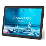 Hoozo Tablet, Android 10.0 OS Phablet, 32GB ROM, 10 Inch Tablet Android, 2.4Ghz WiFi, Bluetooth and Dual Cameras, IPS Full HD Display - Black