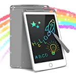 Tecboss LCD Writing Tablet, Colorful Electronic Digital Doodle Board Drawing Pad Educational Toys, Gifts for 3-6 Years Old Boy and Girls at Home School (Gray, 8.5 inch)
